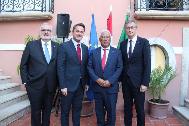 Jean-Jacques Welfring, ambassadeur du Luxembourg au Portugal; Xavier Bettel, Premier ministre; Antonio Costa, Premier ministre portugais; Félix Braz, ministre de la Justice. (Photo: ME)