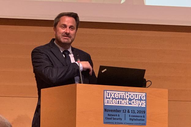 Le Premier ministre, XavierBettel, a appelé les fournisseurs de services digitaux à collaborer avec l'ILR pour rendre le réseau et les systèmes d'information plus sûrs, en ligne avec l'Appel de Paris signé cette année par Lu-Cix. (Photo: Paperjam)
