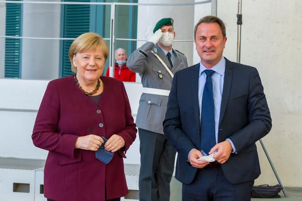 German chancellor Angela Merkel and Luxembourg's Xavier Bettel met in Berlin on 18 October Photo: SIP / Jean-Christophe Verhaegen