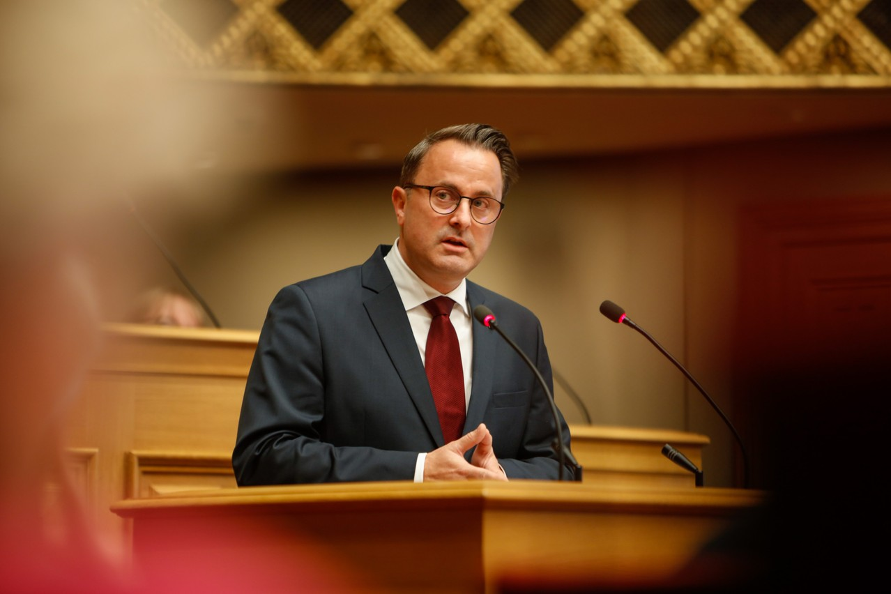 Prime minister Xavier Bettel, pictured during his state of the nation address on 12 October Photo: Romain Gamba / Maison Moderne