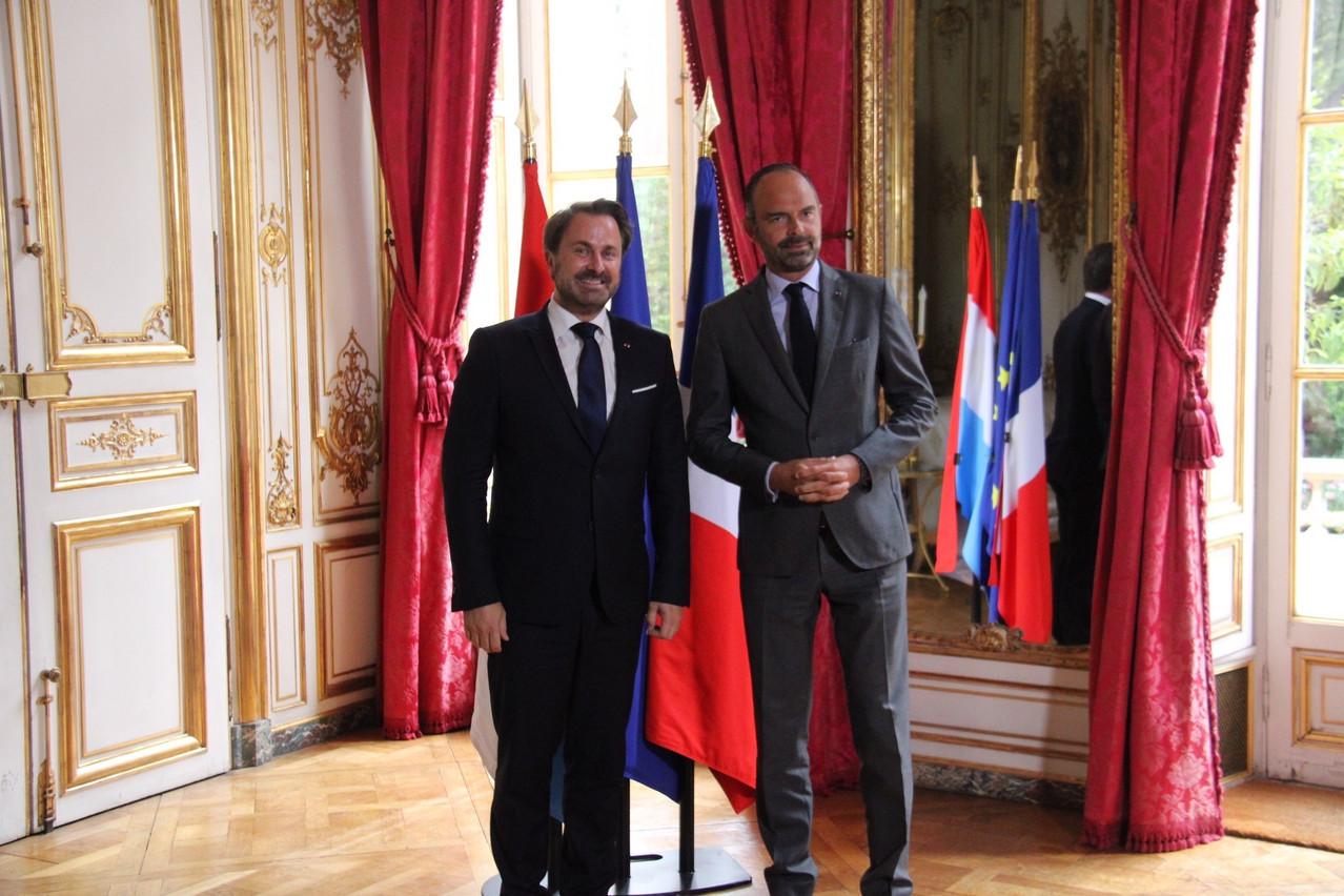 Les Premiers ministres luxembourgeois et français ont évoqué le numérique, le climat et la santé de l'économie européenne. (Photo: ministère d'État)