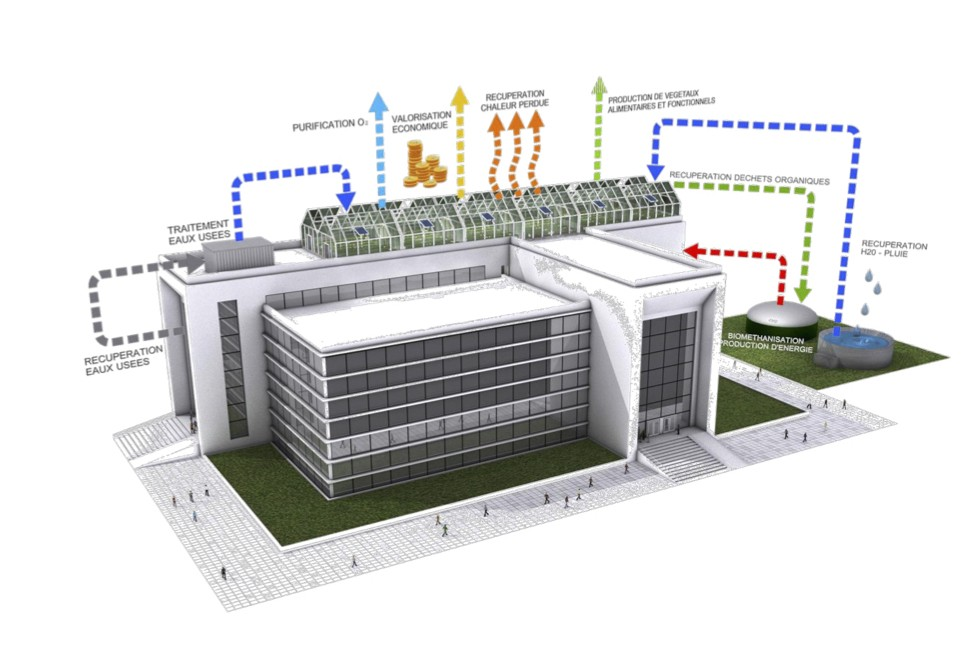 Le projet détaillé du Groof qui sera placé sur le toit de l'IFSB. (Illustration: DR)