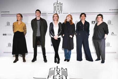 Le jury international (d e gauche à droite ) : Christina Schaffer, Finnegan Oldfield, Sandrine Bonnaire, Lolita Chammah, Mounia Meddour et  Marie-Ange Luciani –Absent : Gilles  Marchand . (Photo: OlivierVigerie)