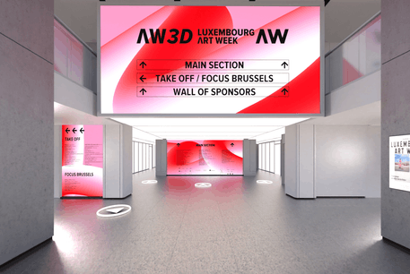 La visite 3D permet de s'orienter comme si on se trouvait dans la halle Victor Hugo. (Illustration: Luxembourg Art Week)
