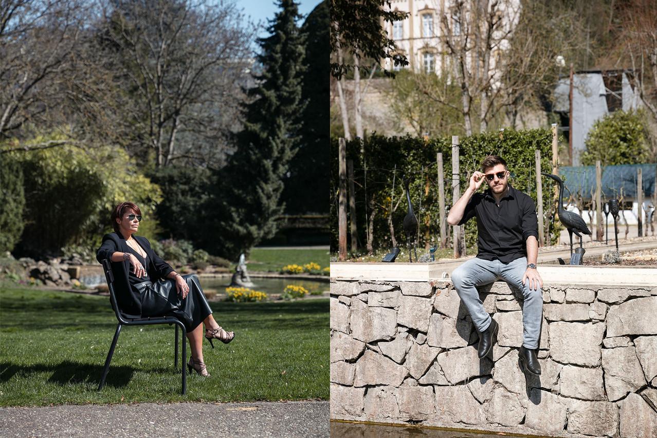 Vicky DosSantos etMatthieu Bracchetti nous présentent un style black, silver and sunglasses. (Photo: Romain Gamba/Maison Moderne)