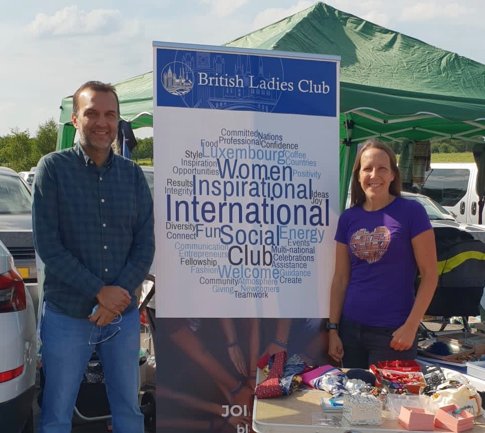 Danial Shaikh and Victoria Hodgson (left to right) British Ladies Club of Luxembourg