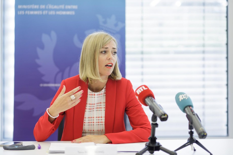 The interior minister, Taina Bofferding, revived the idea of raising the tax rates on profitable businesses, at least temporarily, to help pay down the country's post-pandemic public debt. Library picture: Taina Bofferding speaks at a press conference, 10 June 2021. Matic Zorman