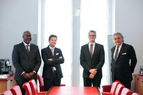 Bonn & Schmitt comptera désormais neuf associés dont MMe Frédéric Lemoine, Gabriel Bleser, Alain Grosjean et Alex Schmitt. (Photo : Matic Zorman / Maison Moderne)