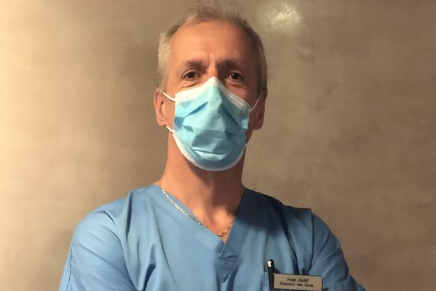SergeHaag dénombre encore 38lits de réanimation mobilisables pour des patientsCovid-19. Le Chem a par ailleurs aménagé une unité pour les patientsCovid-19 hospitalisés sans besoin d'assistance respiratoire dans son ancienne cantine. (Photo: Chem)
