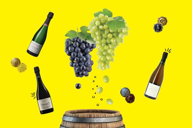 Du bon crémant local ou du champagne d'exception, choisissez vos bulles avec soin pour éviter les lendemains difficiles! (Design: Eva Pontini / Maison Moderne)