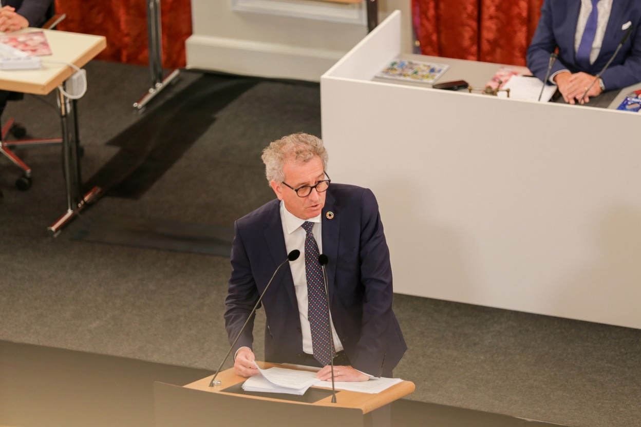 Finance minister Pierre Gramegna pictured in parliament in October 2020. A petition to abolish taxes on 13th salaries and bonuses is waiting to be debated by lawmakers and the government Photo: Romain Gamba / Maison Moderne