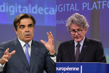 Pour les commissaires Schinas et Breton, la cybersécurité «consiste en définitive à protéger notre mode de vie européen». (Photo: Shutterstock / montage Maison Moderne)