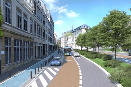 Le boulevard tel qu'il sera une fois les travaux terminés, au mois de septembre. (Photo: Ville de Luxembourg / Gouvernement.lu)