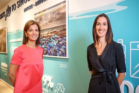 JulieBecker et Laetitia Hamon ont donné le coup d'envoi du LGX Data Hub, qui offrira un ensemble de données sur les obligations durables. (Photo: Luxembourg Stock Exchange)