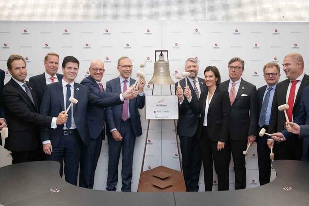 Les dirigeants de la Bourse de Luxembourg et d'Euwax ont officiellement lancé LuxXPrime ce jeudi 26 septembre. (Photo: Bourse de Luxembourg)