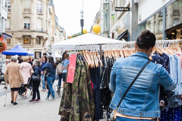 Les normes sanitaires liées au coronavirus et le chantier du tram vont marquer de leur empreinte la 91e braderie de Luxembourg à la fin de ce mois. (Photo: Caroline Martin, Caro-Line Photography/Archives)
