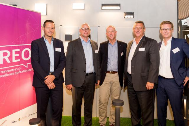 De gauche à droite: Jean-Michel Ludwig (Luxinnovation), Jacques Brauch (Soludec), Laurent Saeul (Minusines), Romain Schmit (FDA), Emmanuel Gay (Resultance). Crédit Photo: Marie De Decker