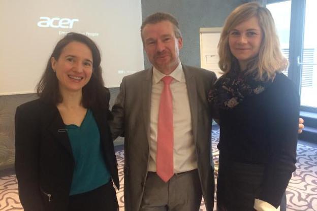 De gauche à droite: Me Ariane Claverie et Me Dorothée Vincey - CASTEGNARO-Ius Laboris Luxembourg et Joël De Marneffe - SD Worx Crédit photo: POG