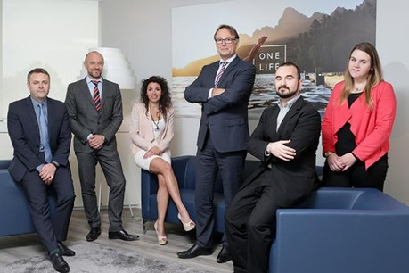 Christophe Regnault, Eric Lippert, Aida Espinosa, Marc Stevens, Johann Blais et Lorène Paquier (Photo: Elgon)