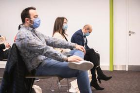 Terry Deumer (La Parqueterie), Eva Jutel (Positive Thinking Company) et Anouar Jallouz (Efficy Luxembourg) ((Photo: Simon Verjus/Maison Moderne))
