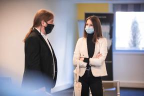Marc Nickts (Sacem Luxembourg) et  Eva Jutel (Positive Thinking Company) ((Photo: Simon Verjus/Maison Moderne))