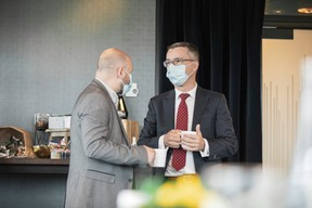 Christophe Bubel (Socotec Luxembourg) et Geoffroy Gailly (Noveo Conseil) ((Photo: Jan Hanrion/Maison Moderne))