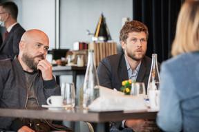 Dominique Schaaf (Arthémis Formalux) et   et Julien Picard (Wini) ((Photo: Jan Hanrion/Maison Moderne))
