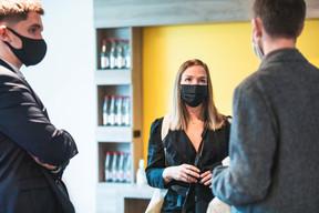 Gauthier Schmitt (Maison Moderne), Cynthia Lheureux (Art.M) et Kristian Horsburgh (TINT) ((Photo: Julian Pierrot/Maison Moderne))