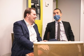 Sébastien Michels (Easi) et Vincent Tam (UBI - United Business Institutes - Luxembourg) ((Photo: Simon Verjus/Maison Moderne))