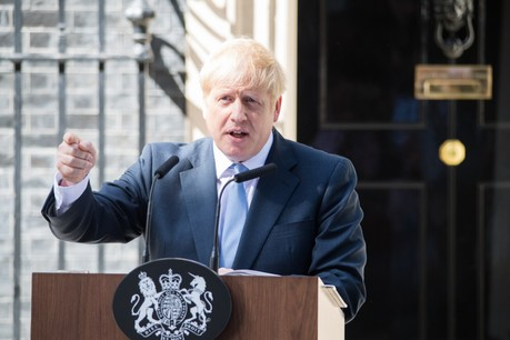 Boris Johnson, le 24 juillet dernier, à Londres. (Photo: Shutterstock)