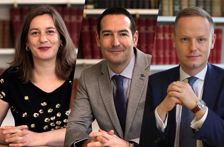 MarieBena, NicolasBernardy et NicolasThieltgen sont les trois avocats associés au sein de l'étude et membres du comité de direction. (Photo: BrucherThielthgen & Partners/Montage: Maison Moderne)