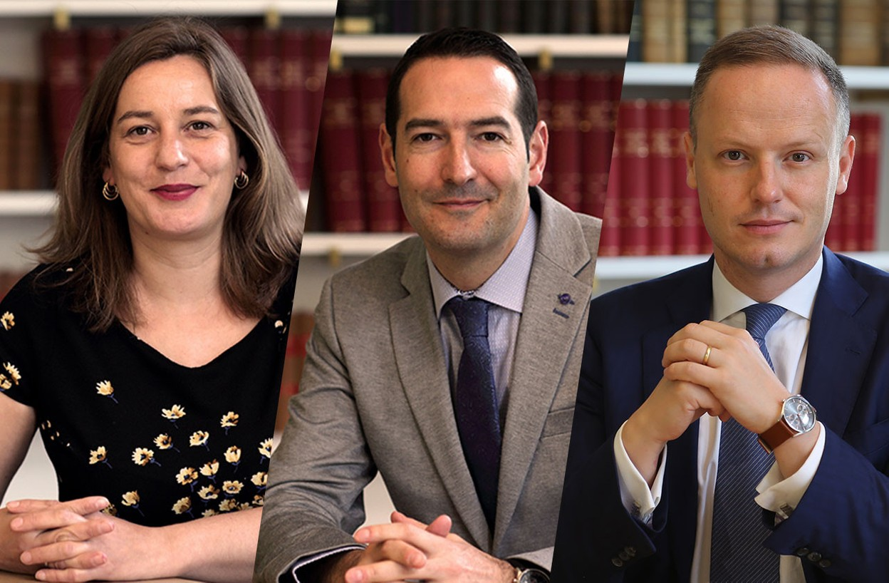 Marie Bena, Nicolas Bernardy and Nicolas Thieltgen are the three partners in the firm and members of the management committee Photo: Brucher Thielthgen & Partners / Montage: Maison Moderne