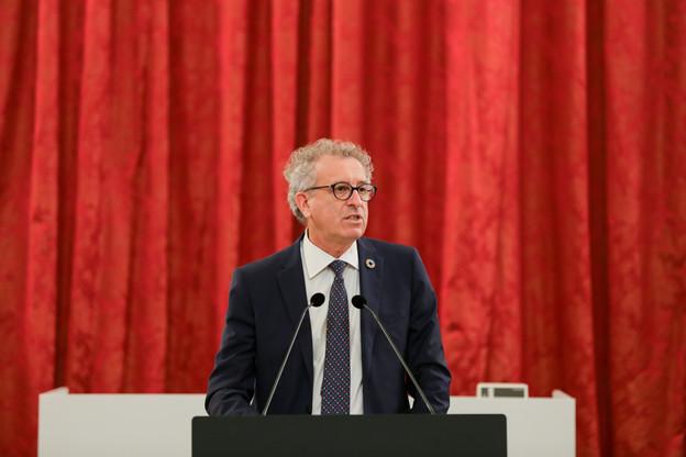 Le ministre des Finances Pierre Gramegna (DP) estime que le budget 2021 pose « les jalons pour une relance soutenue ». (Photo: Romain Gamba/Maison Moderne)
