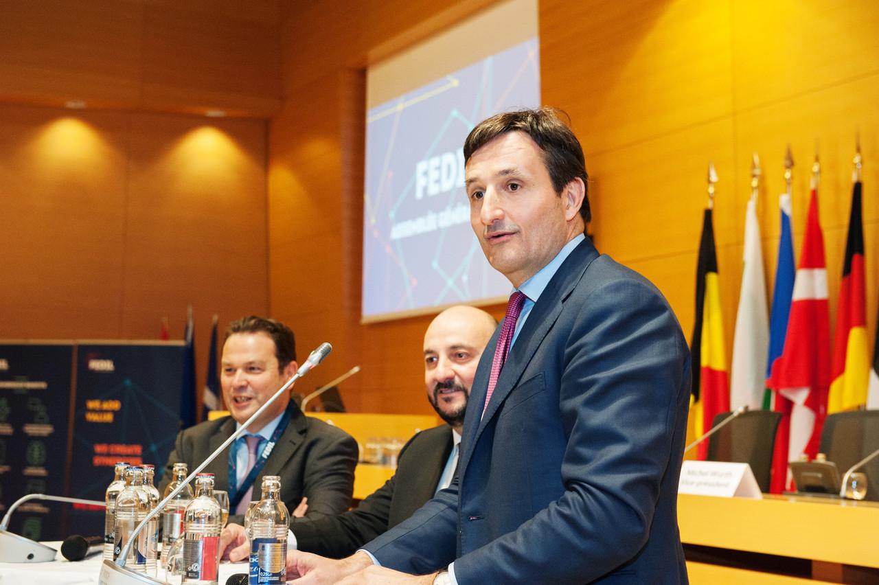 Nicolas Buck, ici lors de l'assemblée générale de la Fedil en 2018, doit être élu en tant que nouveau président de l'UEL cette semaine. (Photo: Lala La Photo)