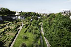 Les zones vertes seront également repensées. ((Illustration: Ville de Luxembourg))