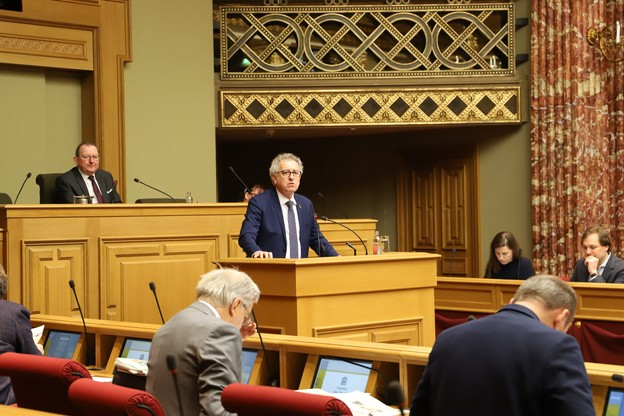 PierreGramegna devra présenter un budget permettant de surmonter le traumatisme de la crise sanitaire sur les finances publiques. (Photo : Chambre des députés)