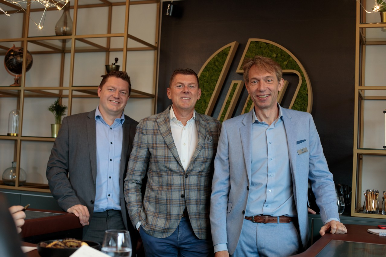 Koen Van Beneden, Dirk Slachmuylder et Sven Olbrechts, de la société HP, espèrent inspirer les entreprises luxembourgeoises. (Photo: Matic Zorman)