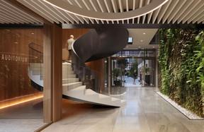 Un grand mur végétal sera installé dans le hall d'entrée. ((Illustration: Panoptikon))