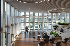 L'auditorium sera largement vitré et ses fenêtres donneront sur la rue. ((Illustration : Panoptikon))