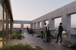 Sur le toit, on trouve une terrasse qui offre une vue panoramique sur la ville et ses alentours. ((Illustration: Panoptikon))