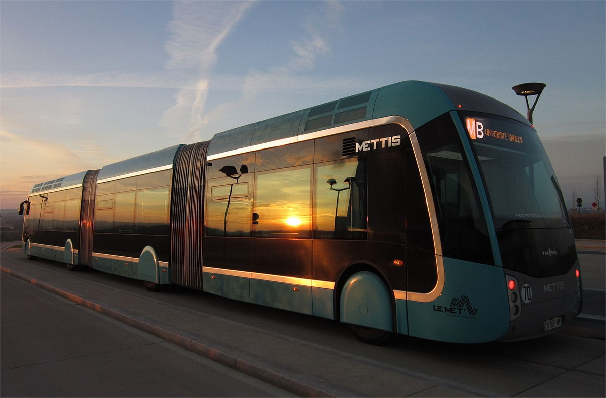 Un modèle de bus à haut niveau de service circulant dans l'agglomération de Metz. (Photo: Wikimedia Commons)