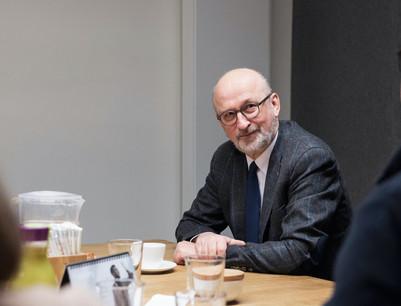 Après deux ans à la présidence du CES, Jean-Jacques Rommes est désormais vice-président. (Photo: Jan Hanrion / archives Maison Moderne)
