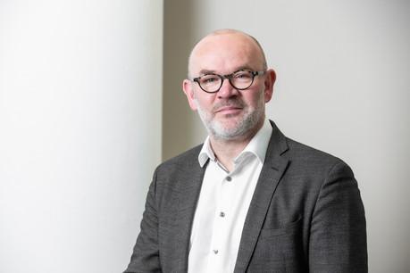 FrankRosenbaum, CEOde CBRE Luxembourg, a répondu à nos questions à l'occasion du lancement du concours Office Space of the Year2021. (Photo: Blitz Agency)