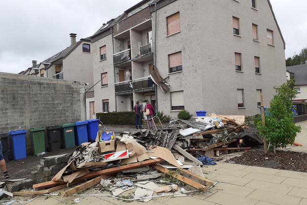 Vendredi 9 août2019, une tornade était passée à Bascharage et Pétange. (Photo: Paperjam / Archives)