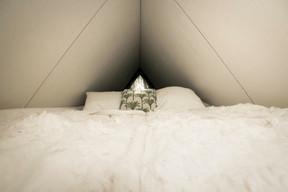 Le lit douillet et la Fermette volante. ((Photo: Ici))