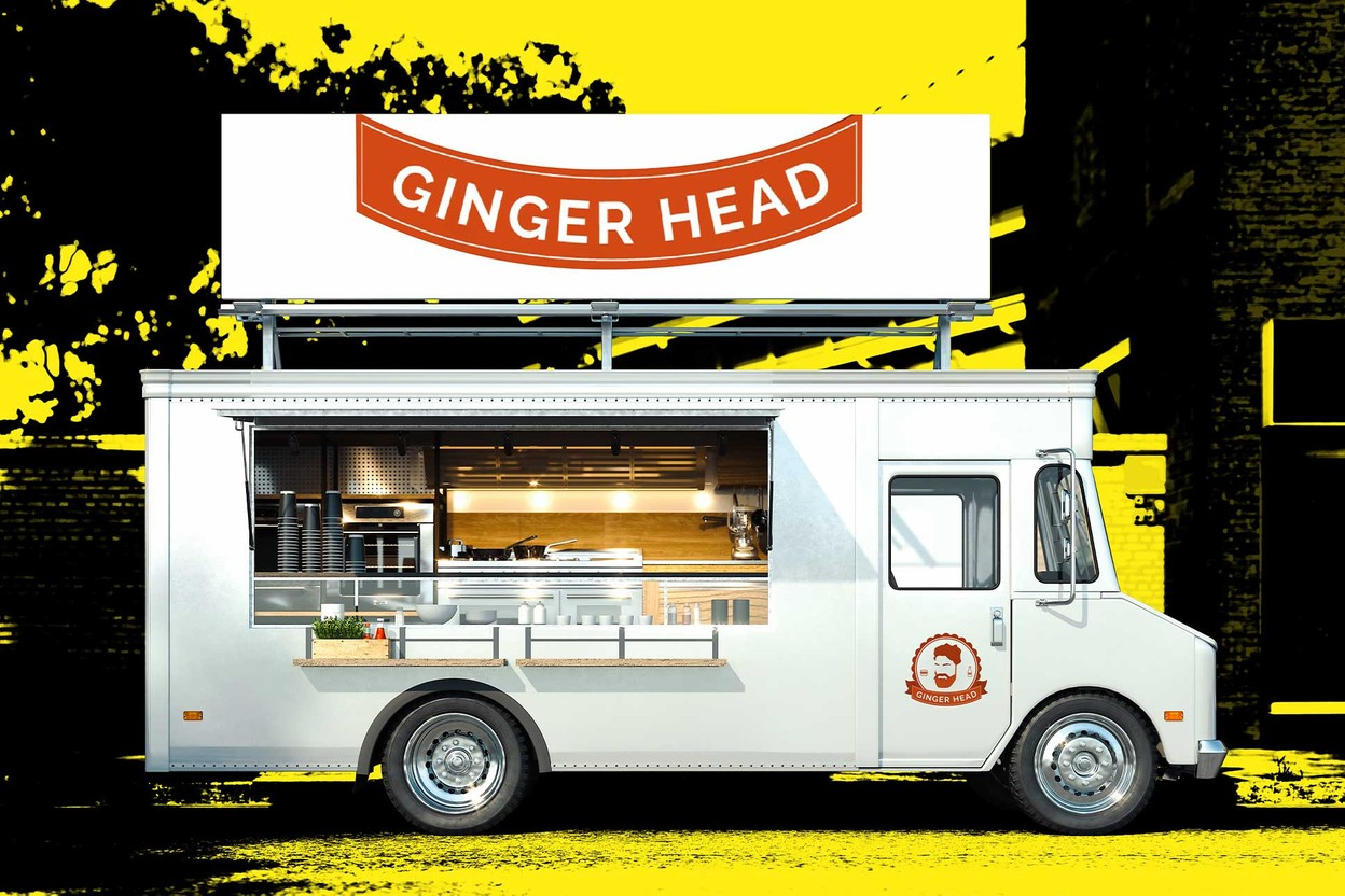 After 10 years of sedentary feasting, Café Bel Air is adding a mobile version to its offer with the Ginger Head food truck. (Design: Sascha Timplan/Maison Moderne)