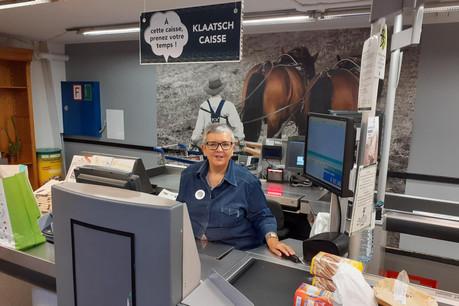 En quelques jours, Geneviève est devenue le symbole de la nouvelle «Klaatsh caisse» du Pall Center d'Oberpallen. (Photo: Paperjam)