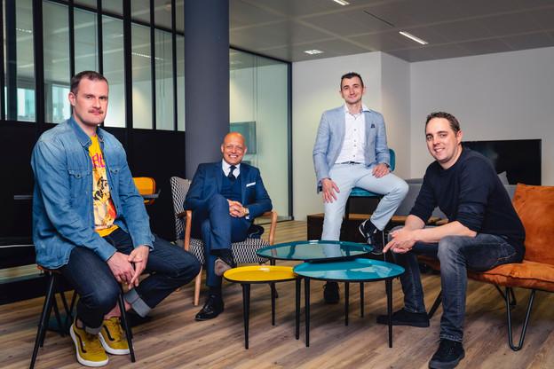 Le management composé de LionelScholtes(Intrépide Studio), FabienZuili(Cap4 Group), Mauro Rocco(Cap4 Group) et MathiasBriquemont(Intrépide Studio). (Photo: Cap4 Group)