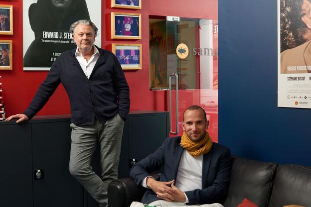 Claude Waringo, à gauche, et Bernard Michaux, à droite. (Photo: Andrés Lejona/Maison Moderne)