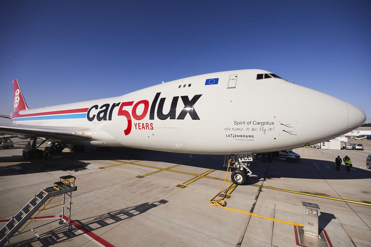 Un mois avant sa date d'anniversaire, Cargolux a accueilli un avion spécialement marqué pour l'occasion. LX-VCC, l'un des cargos emblématiques747-8 de la société, arbore un design spécial et un nouveau nom: Spirit of Cargolux.  (Photo: Cargolux)